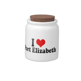 I Love Port Elizabeth, South Africa Candy Jars