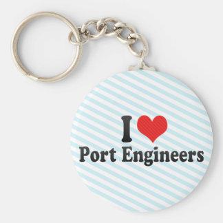 I Love Port Engineers Keychains
