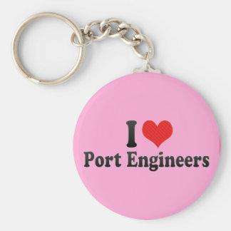 I Love Port Engineers Keychain