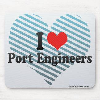 I Love Port Engineers Mousepad
