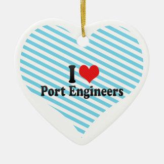 I Love Port Engineers Christmas Ornament
