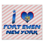 I love Port Ewen, New York Print