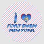 I love Port Ewen, New York Round Stickers