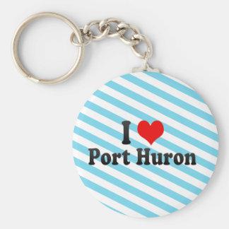 I Love Port Huron, United States Keychains