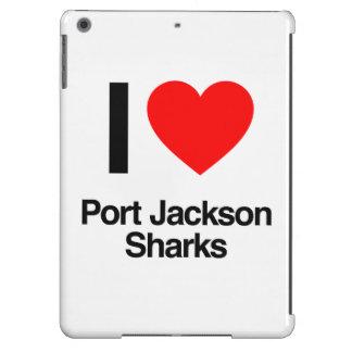 i love port jackson sharks cover for iPad air