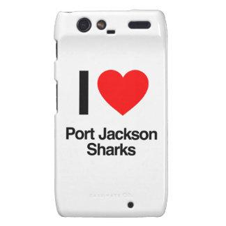 i love port jackson sharks motorola droid RAZR cover