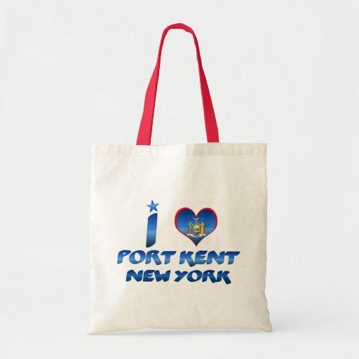 I love Port Kent, New York Budget Tote Bag