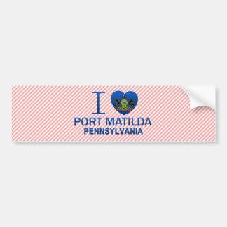 I Love Port Matilda, PA Car Bumper Sticker