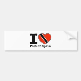 I love Port of Spain Bumper Sticker