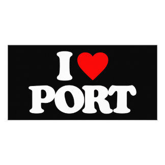 I LOVE PORT PERSONALIZED PHOTO CARD