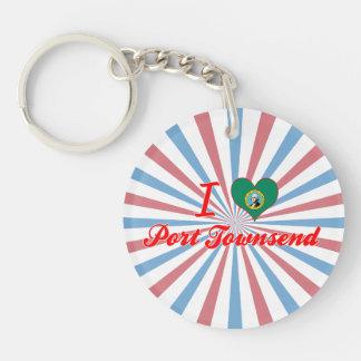 I Love Port Townsend, Washington Acrylic Keychains