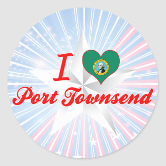 I Love Port Townsend, Washington Classic Round Sticker