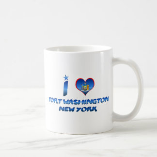 I love Port Washington, New York Classic White Coffee Mug