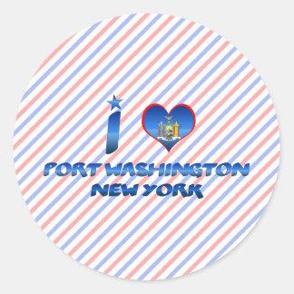 I love Port Washington, New York Classic Round Sticker