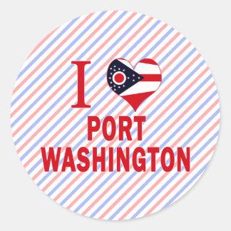 I love Port Washington, Ohio Classic Round Sticker