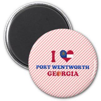 I Love Port Wentworth, Georgia Refrigerator Magnets