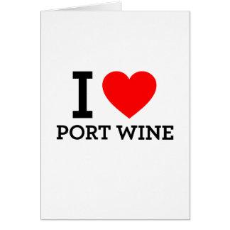 I Love Port Wine Cards