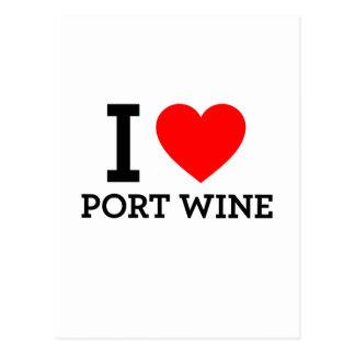 I Love Port Wine Postcard