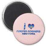I love Porter Corners, New York Fridge Magnet