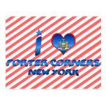 I love Porter Corners, New York Postcard