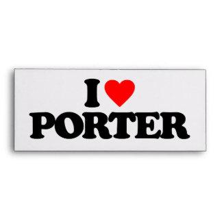 I LOVE PORTER ENVELOPES