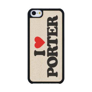 I LOVE PORTER CARVED® MAPLE iPhone 5C SLIM CASE