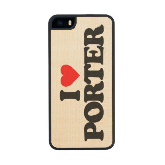 I LOVE PORTER CARVED® MAPLE iPhone 5 CASE