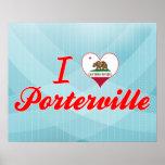 I Love Porterville, California Poster