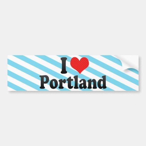 I Love Portland Car Bumper Sticker