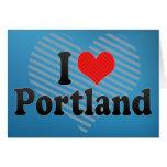 I Love Portland Greeting Card