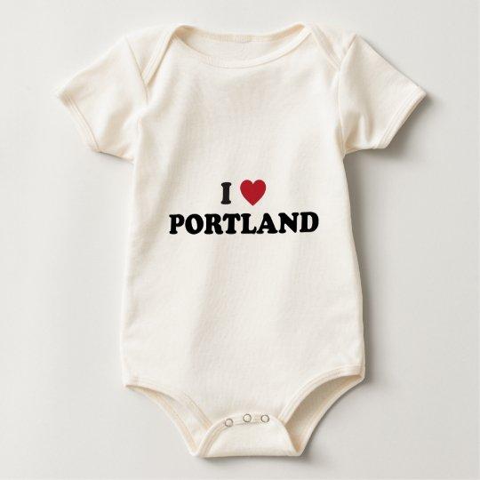 I Love Portland Oregon Baby Bodysuit