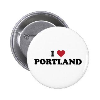 I Love Portland Oregon Button