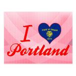 I Love Portland, Oregon Postcard