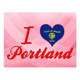 I Love Portland Oregon Postcard