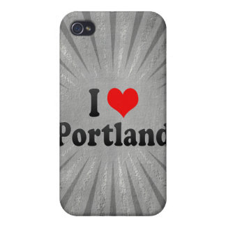 I Love Portland, United States Covers For iPhone 4