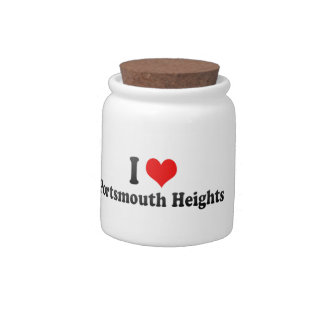 I Love Portsmouth Heights, United States Candy Dishes