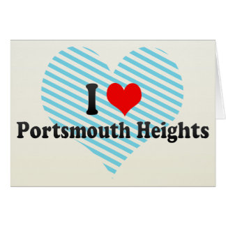 I Love Portsmouth Heights, United States Greeting Card