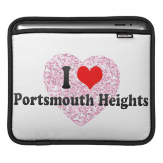 I Love Portsmouth Heights, United States Sleeves For iPads