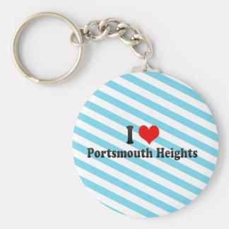 I Love Portsmouth Heights, United States Keychain