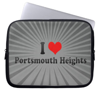 I Love Portsmouth Heights, United States Laptop Sleeves