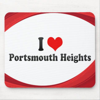 I Love Portsmouth Heights, United States Mousepad