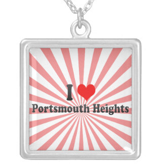 I Love Portsmouth Heights, United States Necklaces