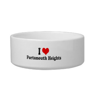 I Love Portsmouth Heights, United States Cat Bowls