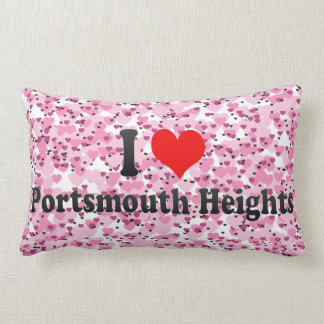 I Love Portsmouth Heights, United States Throw Pillows