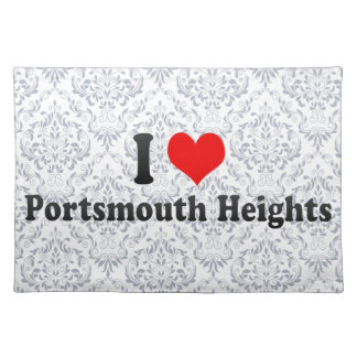 I Love Portsmouth Heights, United States Placemat