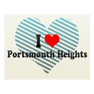 I Love Portsmouth Heights, United States Postcard