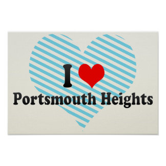 I Love Portsmouth Heights, United States Poster