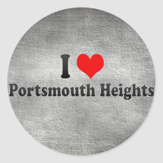 I Love Portsmouth Heights, United States Round Stickers