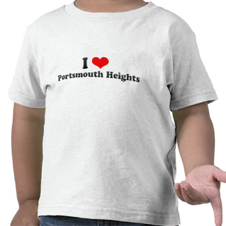 I Love Portsmouth Heights, United States T-shirt