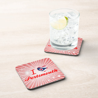 I Love Portsmouth Ohio Drink Coasters